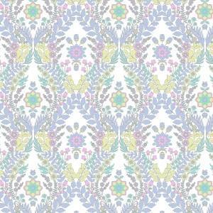 ポーセラーツ 転写紙 模様 ZELLIGE DAMASK (ゼリージュダマスク・ブルー系)|victoriadesign