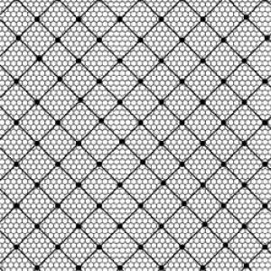 ポーセラーツ 転写紙 ファブリック TULLE (チュール・ブラック)|victoriadesign