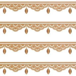 ポーセラーツ 転写紙 模様 BIJOUX LINE (ビジューライン・ブライトゴールド)|victoriadesign