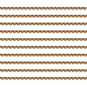 ポーセラーツ 転写紙 模様 SCALLOP LINE (スカラップライン・ブライトゴールド)|victoriadesign