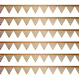 ポーセラーツ 転写紙 模様 TRIANGLE LINE (トライアングルライン・ブライトゴールド)|victoriadesign