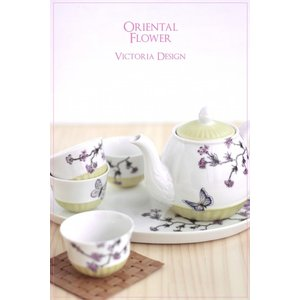 ポーセラーツ 転写紙 花柄 バタフライ - ORIENTAL FLOWER (オリエンタル フラワー)|victoriadesign|04