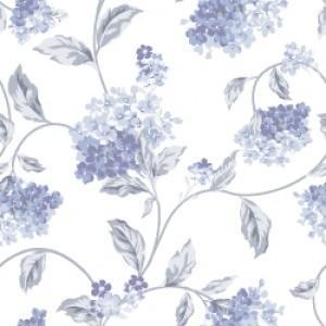 ポーセラーツ 転写紙 花柄 HYDRANGEA (ハイドランジア/紫陽花・ブルー)|victoriadesign