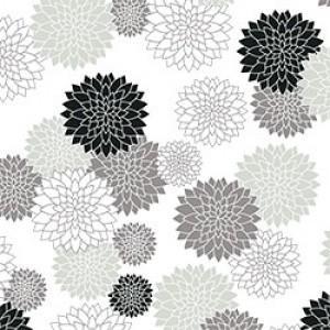 ポーセラーツ 転写紙 和柄 MUM (マム/菊・グレー)|victoriadesign