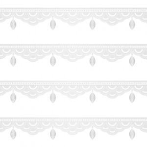 ポーセラーツ 転写紙 模様 BIJOUX LINE (ビジューライン・プラチナ)|victoriadesign