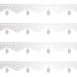 ポーセラーツ 転写紙 模様 BIJOUX LINE (ビジューライン・メタリックシルバー)|victoriadesign