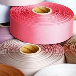 ハンドメイド 手芸 材料 リボンテープ ロール売り グログランリボン 幅25mm 全長45m|victoriadesign
