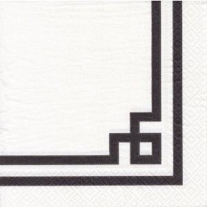 ペーパーナプキン デコパージュ RIVE BLACK LINE L 無くなり次第終了 10枚セット|victoriadesign