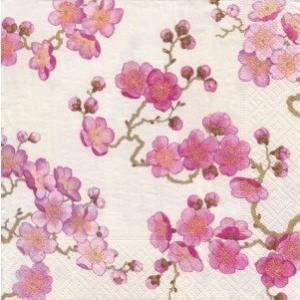 ペーパーナプキン デコパージュ PLUM BLOSSOMS WHITE L 花柄 10枚セット|victoriadesign