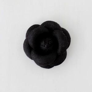ハンドメイド 手芸 材料 ワンポイント カメリア S ブラック victoriadesign