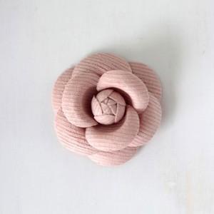 ハンドメイド 手芸 材料 ワンポイント カメリア S グレイッシュピンク victoriadesign