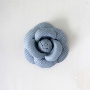 ハンドメイド 手芸 材料 ワンポイント カメリア S グレイッシュライトブルー victoriadesign