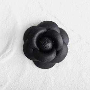 ハンドメイド 手芸 材料 ワンポイント カメリア S レザーブラック victoriadesign