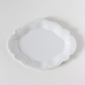 ポーセラーツ 白磁 食器 ダイヤモンドフリルプレート 北欧風