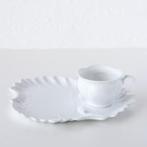 ポーセラーツ 白磁 食器 - フェザー (カップ&ソーサー)|victoriadesign|02