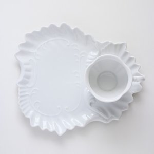 ポーセラーツ 白磁 食器 - フェザー (カップ&ソーサー)|victoriadesign|03