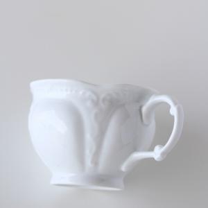 ポーセラーツ 白磁 食器 - フェザー (カップ&ソーサー)|victoriadesign|04