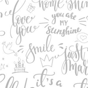 ポーセラーツ 転写紙 メッセージ - CALLIGRAPHY (カリグラフィー・メタリックシルバー) victoriadesign