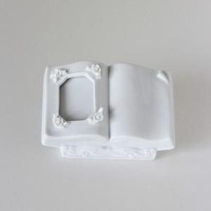 ポーセラーツ 白磁 フォトスタンド ブックスタイルフォトフレーム 北欧風 victoriadesign