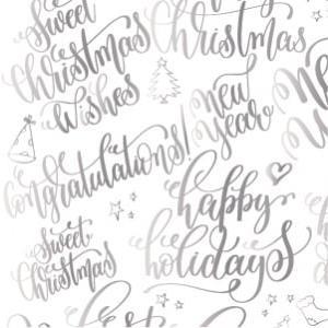 ポーセラーツ 転写紙 メッセージ - CALLIGRAPHY WINTER (カリグラフィーウィンター・メタリックシルバー) victoriadesign