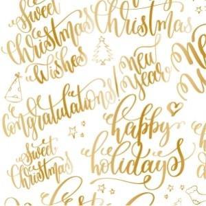 ポーセラーツ 転写紙 メッセージ - CALLIGRAPHY WINTER (カリグラフィーウィンタ―・メタリックゴールド) victoriadesign