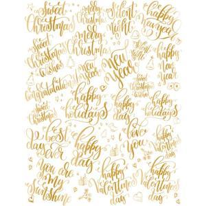 ポーセラーツ 転写紙 メッセージ - CALLIGRAPHY WINTER (カリグラフィーウィンタ―・メタリックゴールド) victoriadesign 03