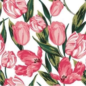 ポーセラーツ 転写紙 花柄 TULIP (チューリップ・ピンク)|victoriadesign
