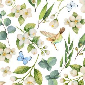 ポーセラーツ 転写紙 花柄 WEDDING FLOWER (ウェディングフラワー)