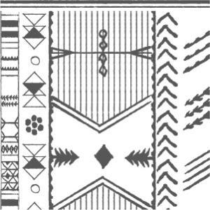 ポーセラーツ 転写紙 ネイティブ AFRICAN DESIGN(アフリカンデザイン)|victoriadesign