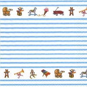 ペーパーナプキン デコパージュ キャラクター TOYBOX blue L おしゃれ 10枚セット|victoriadesign