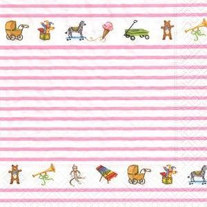 ペーパーナプキン デコパージュ キャラクター TOYBOX PINK L おしゃれ 10枚セット|victoriadesign