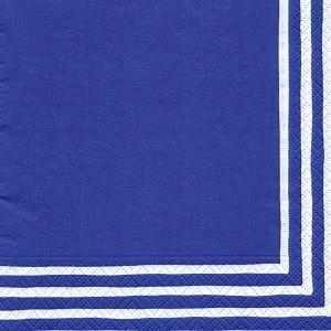 ペーパーナプキン デコパージュ LINEA NAVY L 10枚セット|victoriadesign
