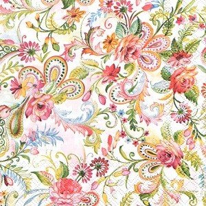 ペーパーナプキン デコパージュ PLANTAN L 花柄 10枚セット|victoriadesign