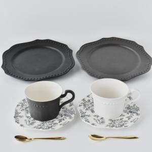 洋食器 ギフト アフタヌーンティーセット カップ ソーサー ティースプーン セット プレート 皿 おしゃれ プレゼント|victoriadesign|02