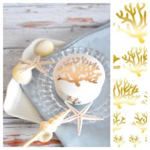 ポーセラーツ 転写紙 デザイナーズ simple coral|victoriadesign