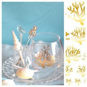 ポーセラーツ 転写紙 デザイナーズ simple coral (ガラス用)|victoriadesign