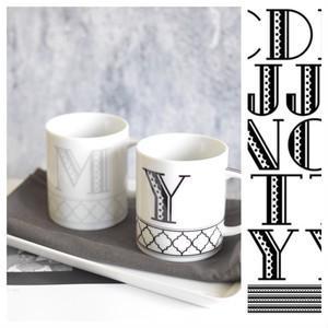 ポーセラーツ 転写紙 デザイナーズ レトロBIGアルファベット (グレー)|victoriadesign