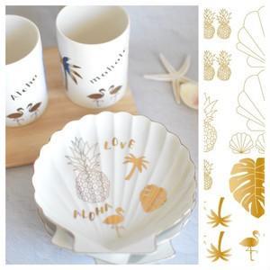 ポーセラーツ 転写紙 デザイナーズ tropical parts (ゴールド)|victoriadesign