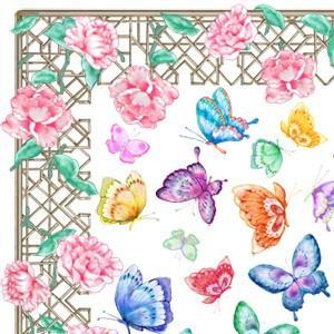 ポーセラーツ 転写紙 花柄 FLOWER BED(フラワーベッド)