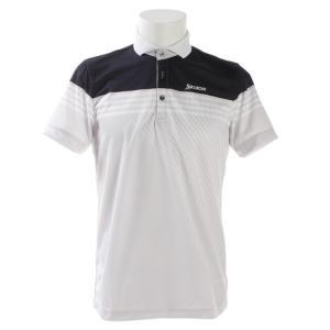 ●ボーダーとグラデーションを組み合わせたグラフィックデザインの半袖シャツ。盛夏対応を想定したUVケア...