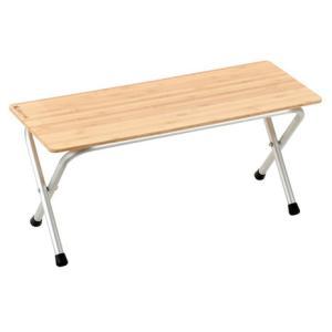 ●地上高38.5cmが嬉しい竹天板タイプのシェルフです。【テーブル キャンプ レジャー アウトドア】...