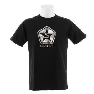 SESSIONS LOGO 半袖Tシャツ 197058 BLK (Men's)|victoriasurfandsnow