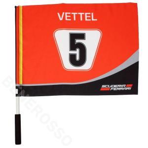 フェラーリ SFチーム S.ベッテル #5 ハンドフラッグ レッド FE-ES-1814|victorylap