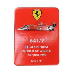 ピンバッジ フェラーリ 641/2 A.プロスト メキシコGP 1990 victorylap