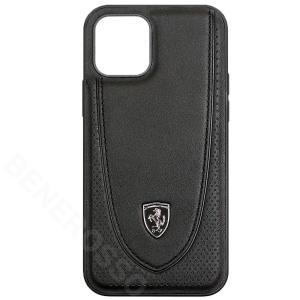 フェラーリ iPhone12 / 12 Pro レザー ハードケース Off Track Perforated ブラック FEOGOHCP12MBK|victorylap