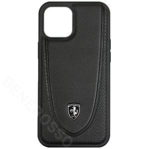 フェラーリ iPhone12 Pro Max レザー ハードケース Off Track Perforated ブラック FEOGOHCP12LBK|victorylap