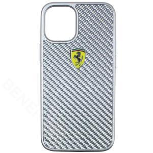 フェラーリ iPhone12 mini リアルカーボン ハードケース On Track シルバー FERCAHCP12SSI|victorylap