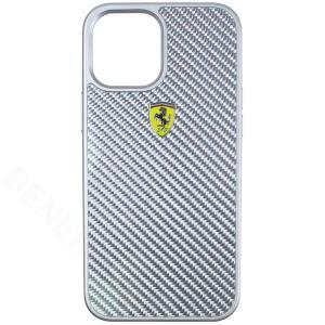 フェラーリ iPhone12 Pro Max リアルカーボン ハードケース OnTrack シルバー FERCAHCP12LSI|victorylap