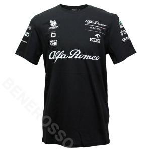 アルファロメオ レーシング オーレン チーム エッセンシャル Tシャツ 2021 ブラック M60021414|victorylap