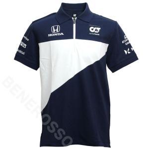 スクーデリア アルファタウリ ホンダ チーム ポロシャツ 2021 ネイビー SAT21035-01|victorylap